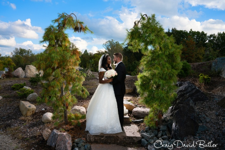 creative Colorful bride and groom photo