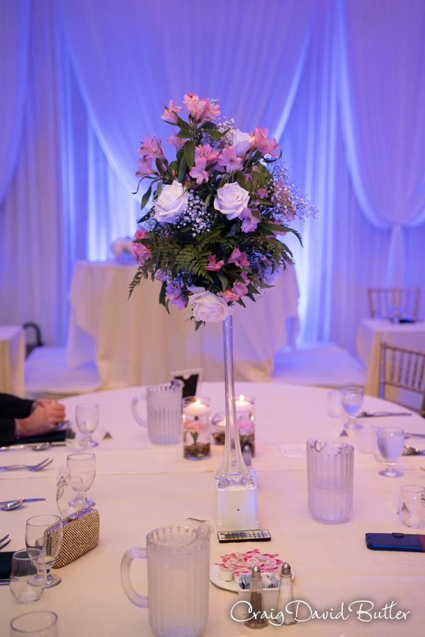 Wedding table centerpiece Regency Manor MI