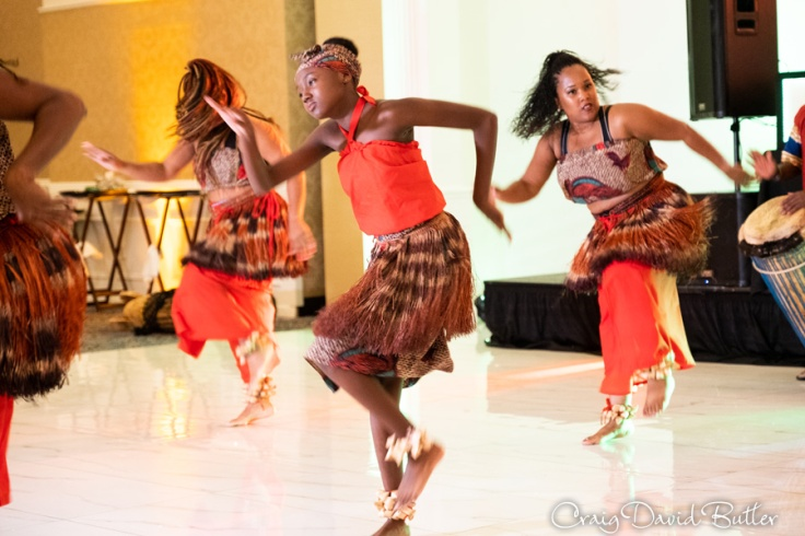 West African Dancers perform at the reception